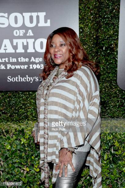 Loretta Devine attends The Broad Museum celebration for the opening of Soul Of A Nation Art in the Age of Black Power 19631983 Art Exhibition at The...