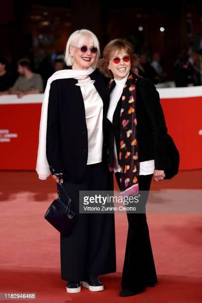 Loretta Goggi and Daniela Goggi attend the red carpet of the movie Hustlers during the 14th Rome Film Festival on October 23 2019 in Rome Italy
