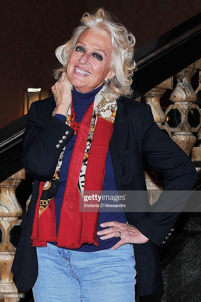 Loretta Goggi attends 'Pazze di Me' Photocall held at Cinema Odeon on January 22, 2013 in Milan, Italy.