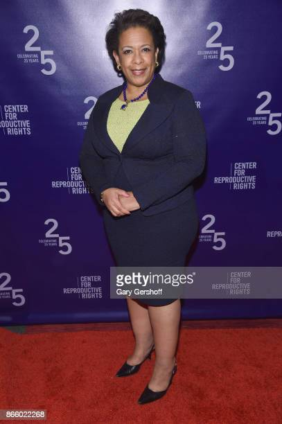 Loretta Lynch attends The Center For Reproductive Rights Hosts 25th Anniversary Celebration on October 24 2017 in New York City