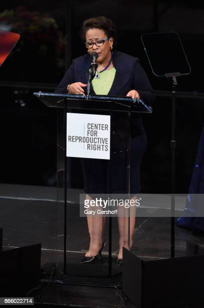 Loretta Lynch speaks at The Center For Reproductive Rights Hosts 25th Anniversary Celebration on October 24 2017 in New York City