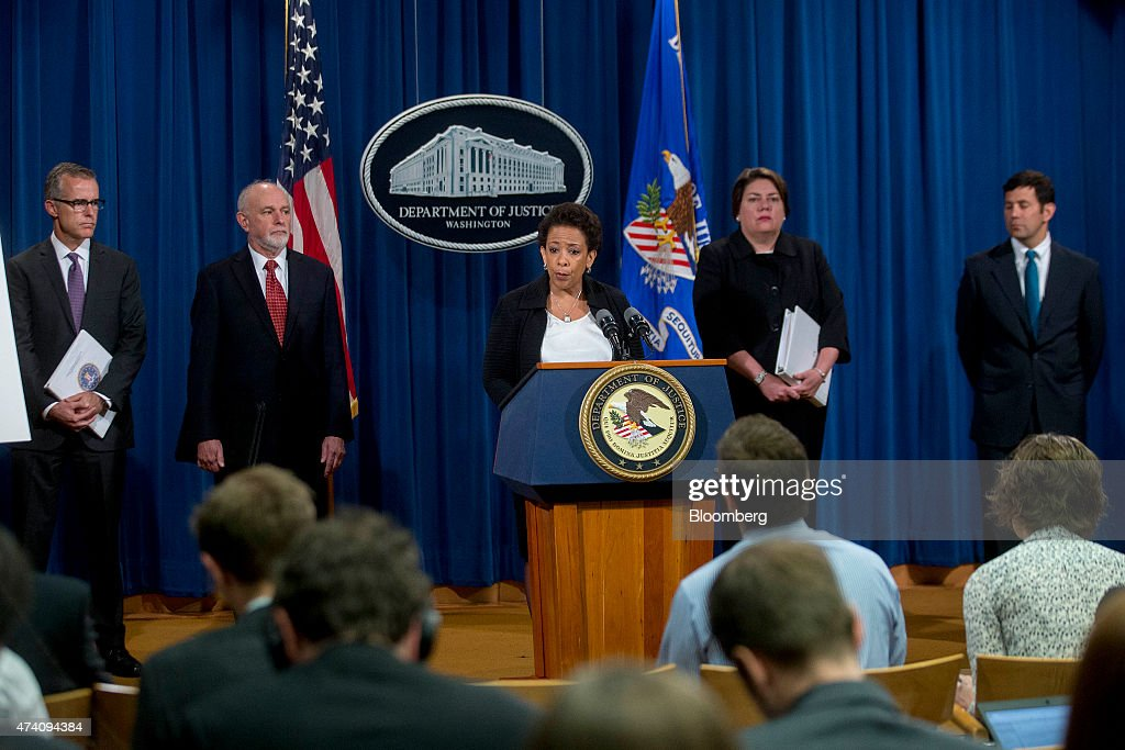 Justice Department News Conference Regarding Financial Institutions Manipulation Of FOREX : News Photo