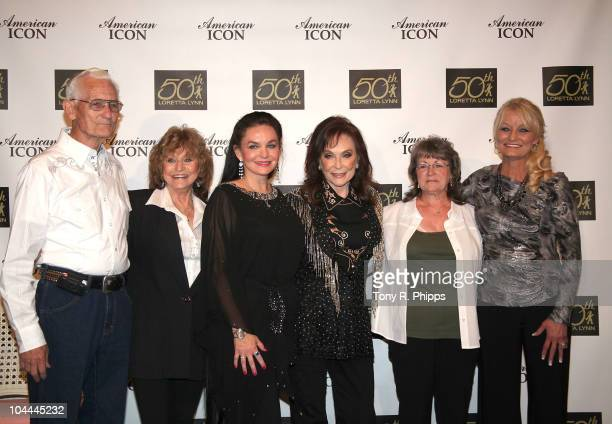 Loretta Lynn and family members at 'Loretta Lynn A Tribute To An American Country Music Icon' at The Loretta Lynn Ranch on September 24 2010 in...