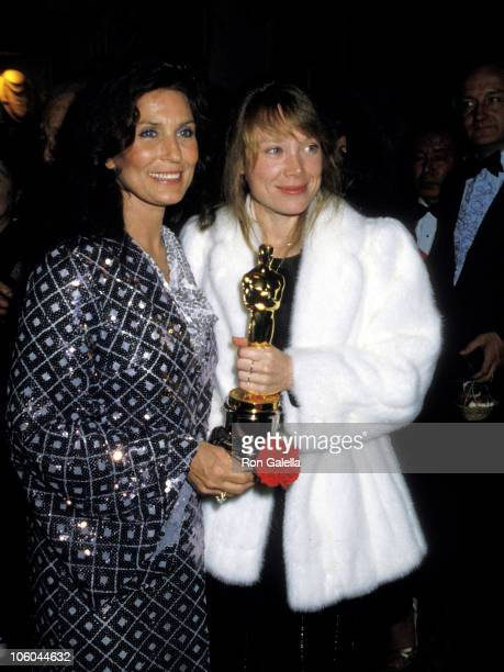 Loretta Lynn and Sissy Spacek during 53rd Annual Academy Awards' Governor's Ball at Beverly Hilton Hotel in Beverly Hills, California, United States.