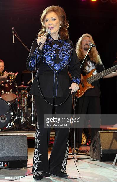 Loretta Lynn performs at Day Three of the Bonnaroo Music And Arts Festival on June 11, 2011 in Manchester, Tennessee.