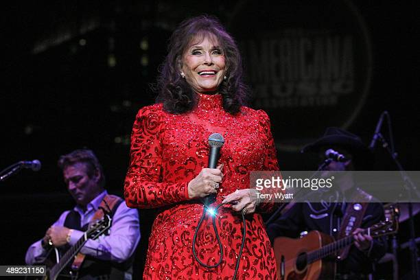 Loretta Lynn performs during the 16th Annual Americana Music Festival Conference at Ascend Amphitheater on September 19 2015 in Nashville Tennessee