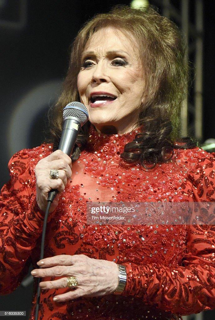 Loretta Lynn performs during the BBC showcase at Stubb's Bar-B-Q on March 17, 2016 in Austin, Texas.
