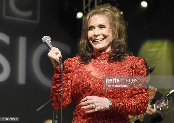 Loretta Lynn performs during the BBC showcase at Stubb's BarBQ on March 17 2016 in Austin Texas