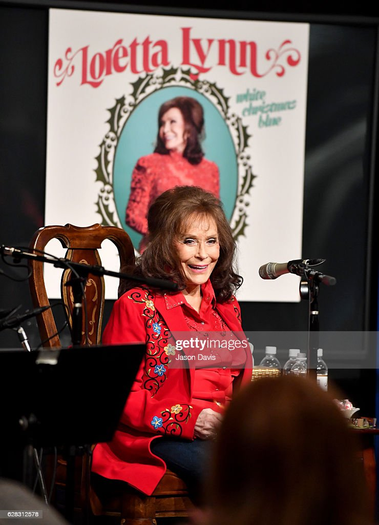 Loretta Lynn speaks onstage during an interview and performance For SiriusXM's Willie's Roadhouse & Country Christmas Channels on December 6, 2016 in Hurricane Mills, Tennessee.