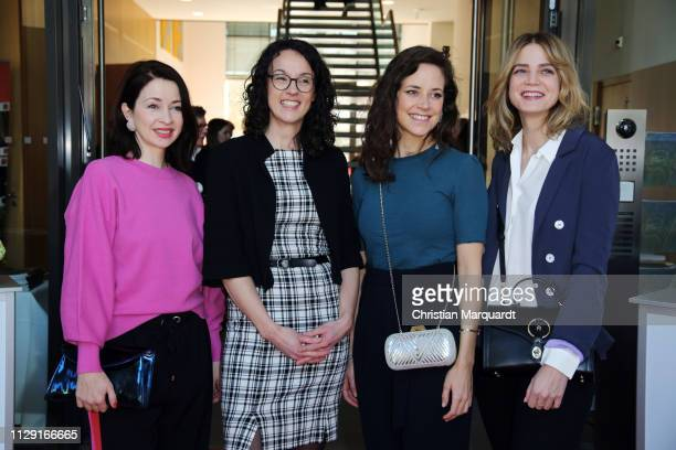 Loretta Stern Angela Dorn Anja Knauer and Rike Schmid attend the Hessian reception during the 69th Berlinale International Film Festival on February...
