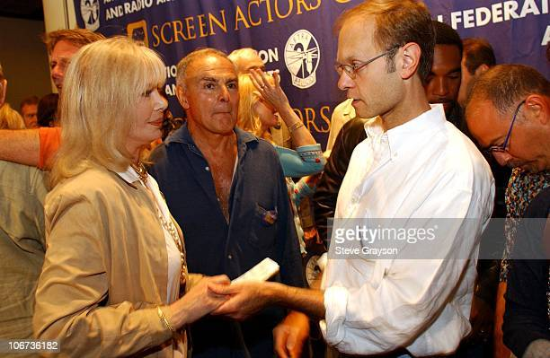 Loretta Swit and David Hyde Pierce during Press Conference for SAG and AFTRA Members Announcing I Am Voting YES for Union Consolidation at Screen...