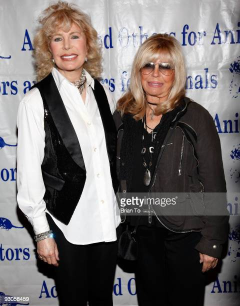 Loretta Swit and Nancy Sinatra attend Celebration Of Caring A Toast To Rowan Martin's LaughIn at Universal Hilton Hotel on November 14 2009 in...