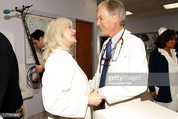 Loretta Swit and Richard Chamberlain during 2006 TV Land Awards Spoof of Grey's Anatomy at Robert Kennedy Medical Center in Los Angeles California...