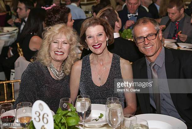 Loretta Swit Loraine Baker and Gene Baur attend the 2015 Farm Sanctuary Gala held at The Plaza Hotel on October 24 2015 in New York City