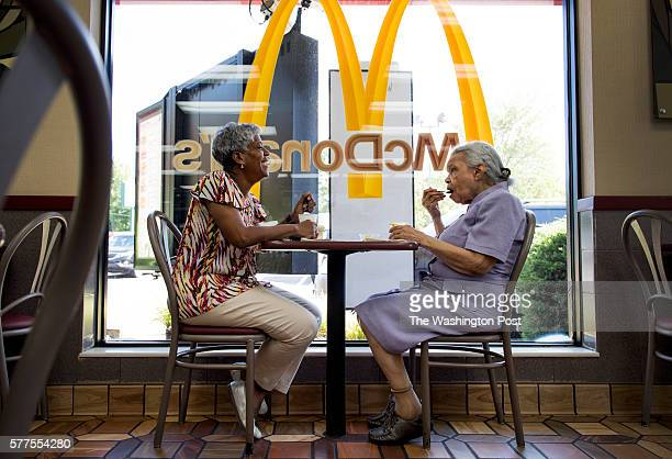 Loretta Veney takes her mother Doris Woodward out for ice cream at McDonalds in Ft Washington MD on June 29 2016 Woodward who is 86 suffered from...