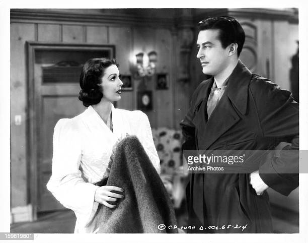 Loretta Young and Ray Milland in a scene from the film 'The Doctor Takes A Wife' 1940
