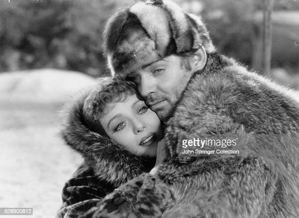 Loretta Young as Claire Blake and Clark Gable as Jack Thornton in the 1935 film version of Jack London's novel The Call of the Wild