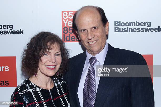 Lori Anne Hackel and Michael Milken attend the Bloomberg Businessweek's 85th Anniversary Celebration at the American Museum of Natural History in New...