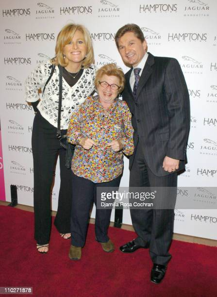 Lori Burgess Group Publisher of Niche Media Dr Ruth Westheimer and Gary Flom President and CEO of Manhattan Automobile Company