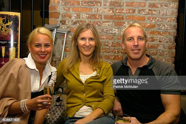 Lori Cheek Christine Williams and Matt Gorski attend Drambuie Den Event with Special Guest Heather Vandeven at Level V on October 22 2007 in New York