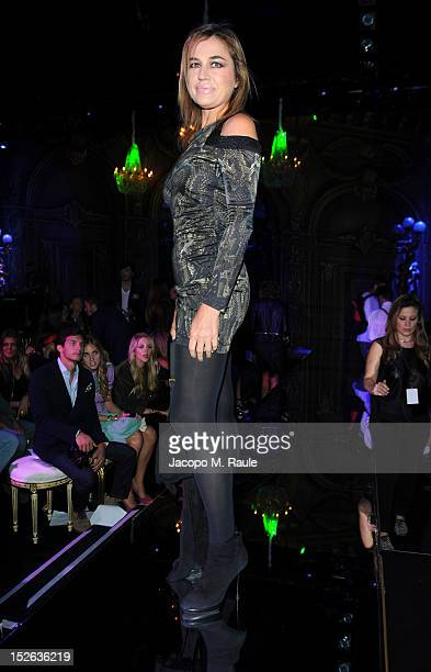 Lori Del Santo attends the Philipp Plein Spring/Summer 2013 fashion show as part of Milan Womenswear Fashion Week on September 22, 2012 in Milan,...