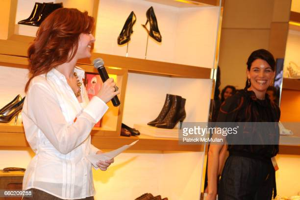 Lori Dernavich and Amy Erbesfeld attend STEP UP Salon at LOUIS VUITTON Soho at Louis Vuitton Soho on July 15 2009 in New York City