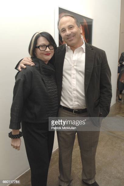 Lori Dewhirst and Michael Kohn attend SHE Images of women by Wallace Berman and Richard Prince Opening at Michael Kohn Gallery on January 15 2009 in...