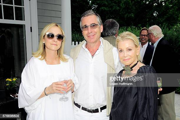 Lori Dodd JC Dodd and Lee Calicchio attend the Hope for Depression Research Foundation Founder President Audrey Gruss Hosts Kick Off Party for Walk...