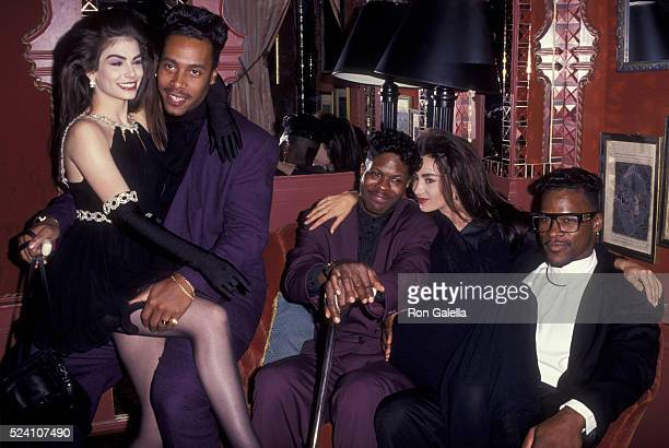 Lori Elle and Robia LaMorte attend Party Honoring Prince on October 15 1991 at Tatou Club in New York City