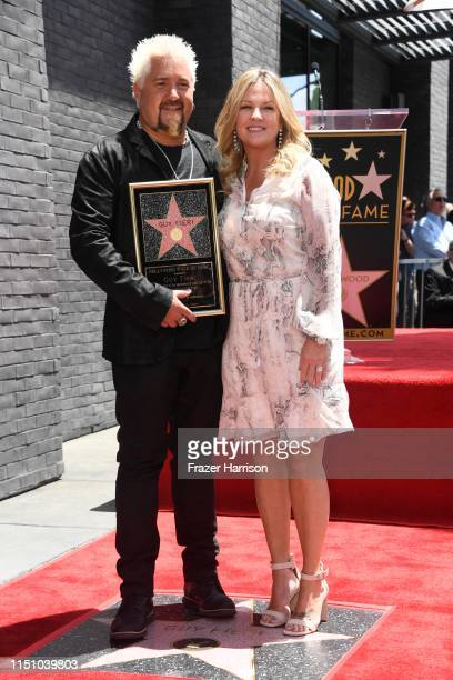 Lori Fieri and Chef Guy Fieri who was honored with the 2664th Star on the Hollywood Walk of Fame Star in Hollywood California