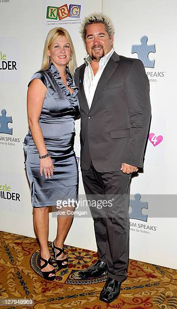 Lori Fieri and Food Network star/chef Guy Fieri attends Autism Speaks to Wall Street 5th Annual Celebrity Chef Gala at Cipriani Wall Street on...