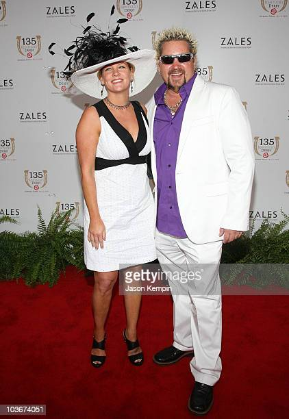 Lori Fieri and Guy Fieri attend the 135th Kentucky Derby at Churchill Downs on May 2 2009 in Louisville Kentucky