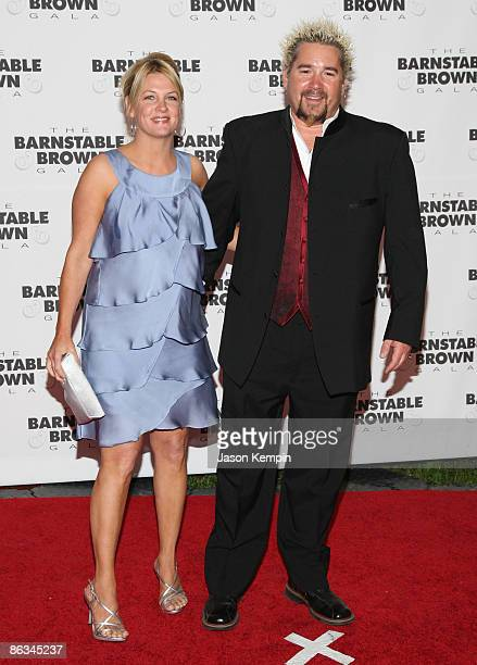 Lori Fieri and Guy Fieri attend the Barnstable Brown Party Celebrating The 135th Kentucky Derby at Barnstable Brown House on May 1 2009 in Louisville...