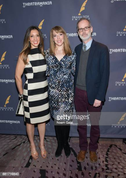 Lori Fineman Emily Skinner and Jack Cummings III attend the 2017 Drama Desk Nominees Reception at Marriott Marquis Times Square on May 10 2017 in New...