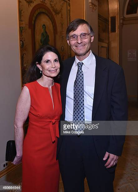 Lori Fink and Dr Ben Neel attend NYU Langone Medical Center's Perlmutter Cancer Center Gala at The Plaza Hotel on October 21 2015 in New York City