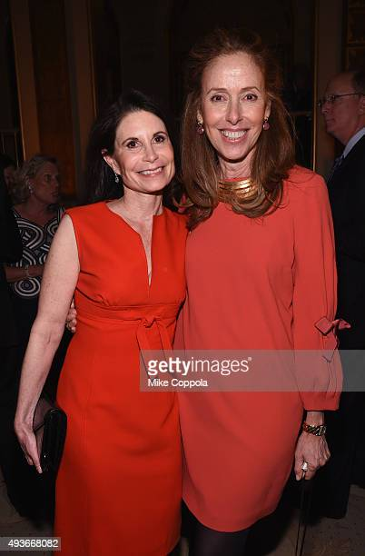 Lori Fink and Phyllis Putter Barasch attend NYU Langone Medical Center's Perlmutter Cancer Center Gala at The Plaza Hotel on October 21 2015 in New...
