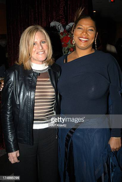 Lori from Elle and Queen Latifah during Chicago Premiere Party at Academy of Motion Picture Arts and Sciences in Beverly Hills CA United States