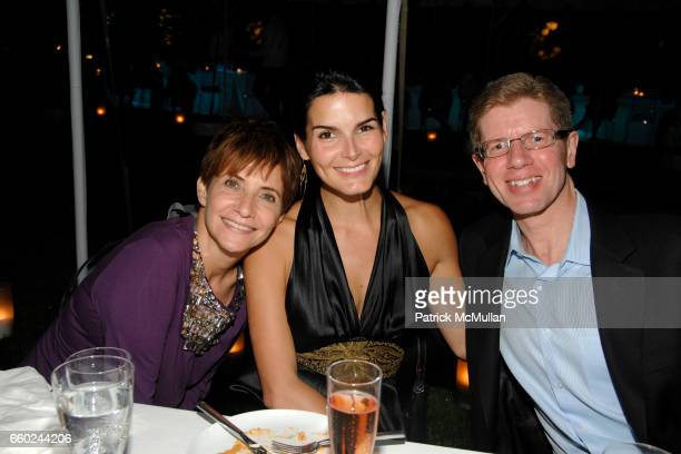 Lori Goldstein Angie Harmon and Mike George attend QVC Style Dinner at Private Residence on July 31 2009 in East Hampton New York