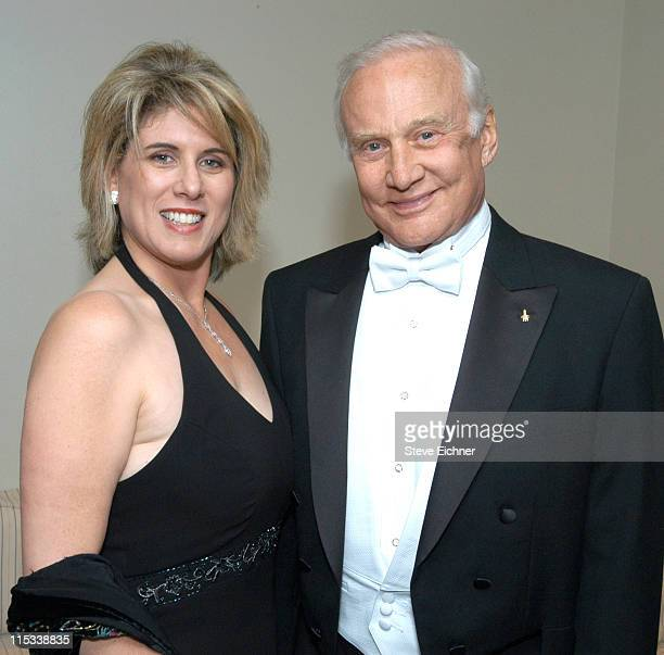 Lori Gordon and Buzz Aldrin during Jr Philharmonic Orchestra 68th Anniversary Concert Spectacular at Dorothy Chandler Pavilion in Los Angeles...