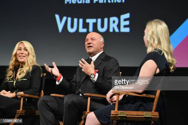 Lori Greiner and Kevin O'Leary speak onstage at the Tribeca Talks Panel 10 Years Of Shark Tank during the 2018 Tribeca TV Festival at Spring Studios...
