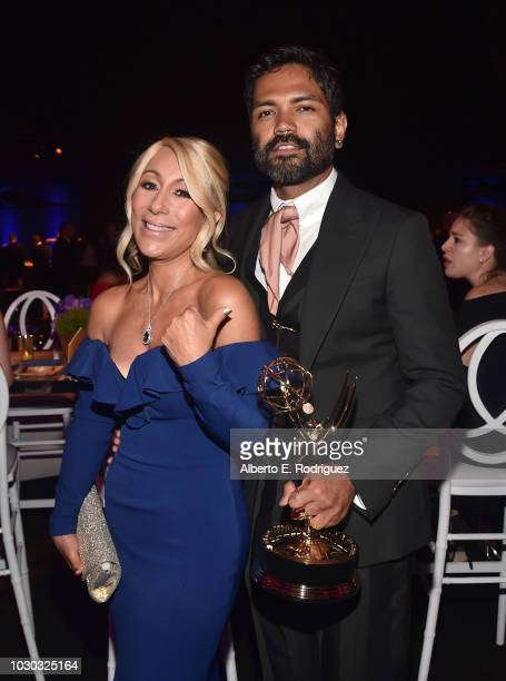 Lori Greiner and Pocasangre attend the 2018 Creative Arts Ball at on September 9 2018 in Los Angeles California