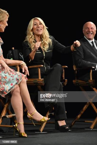Lori Greiner speaks onstage at the Tribeca Talks Panel 10 Years Of Shark Tank during the 2018 Tribeca TV Festival at Spring Studios on September 23...