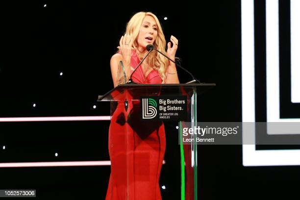 Lori Greiner speaks to the crowd during Big Brothers Big Sisters Of Greater Los Angeles Big Bash Gala Inside at The Beverly Hilton Hotel on October...