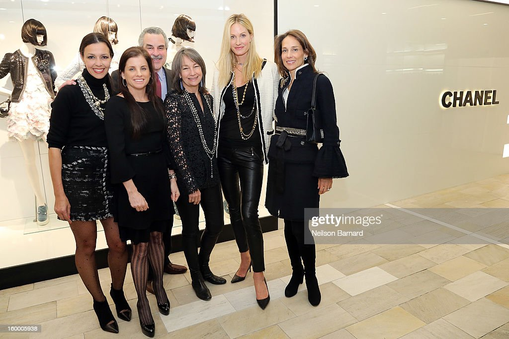 Lori Hall, Debra Perelman, Dr. Koplewicz, Brooke Garber Neidich, Christine Mack and Marcia Mishaan attend Bloomingdale's celebration of the newly renovated Chanel RTW Boutique at Bloomingdale's 59th Street Store on January 24, 2013 in New York City.