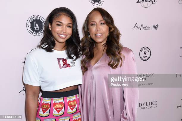 Lori Harvey and Marjorie Elaine Harvey attend The LadyLike Foundation Women Of Excellence Luncheon at The Beverly Hilton Hotel on May 11 2019 in...