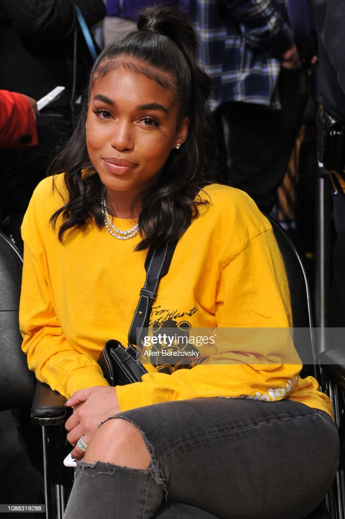 Lori Harvey attends a basketball game between the Los ...