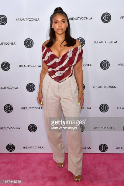 Lori Harvey attends Beautycon Los Angeles 2019 Pink Carpet at Los Angeles Convention Center on August 11 2019 in Los Angeles California