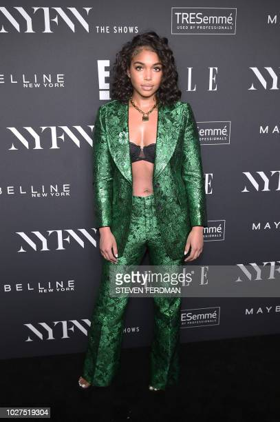 Lori Harvey attends the NYFW KickOff Party hosted by E Entertainment ELLE IMG at The Pool The Seagram Building on September 5 2018 New York City