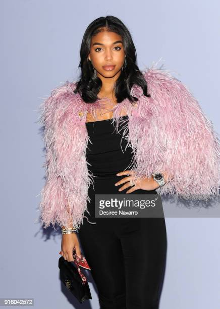 Lori Harvey attends Tom Ford Women's Fall/Winter 2018 fashion show during New York Fashion Week at Park Avenue Armory on February 8 2018 in New York...