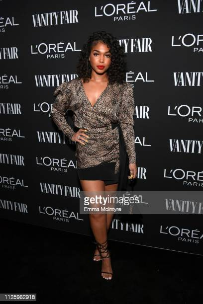 Lori Harvey is seen as Vanity Fair and L'Oréal Paris Celebrate New Hollywood on February 19 2019 in Los Angeles California